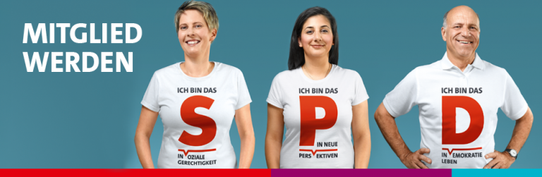 SPD Mitglied werden - Ich bin das... S in soziale Gerechtigkeit, P in neue Perspektiven, D in Demokratie erleben