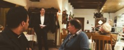 Knippessen 2020 bei Debbeler in Dwergte mit Bürgermeister Witali Bastian