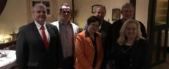 Bundestagkandidaten Kristian Kater, Paul Drees - MdL Renate Geuter, Detlef Kolde, MdB Gabriele Groneberg und OV-Vorsitzender Theo Bruns